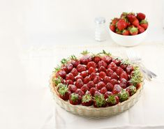 Strawberry Mascarpone Tart - This beautiful strawberry tart recipe comes to us from food writer Jamie Schler. Check out her tale behind the tart, just in time for Florida strawberry season.