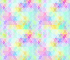 Abstract rainbow pastel color.  custom fabric by ekaterinap for sale on Spoonflower