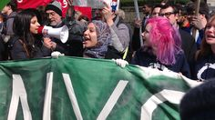 Hundreds Protest Donald Trump At NYC March In Columbus Circle ...