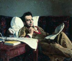 Ilya Repin - Portrait of the Composer Mikhali Glink, 1887.