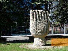 Since 1992, a memorial in the city center of České Budějovice remembers the…