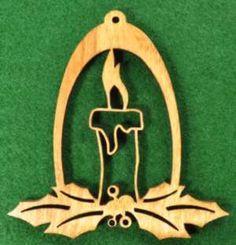 Wood Candle Ornament
