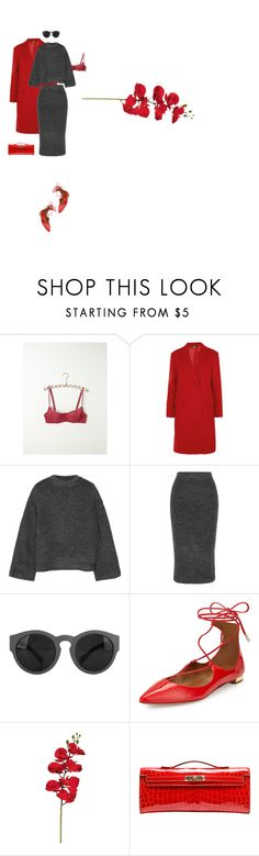 """icona"" by d-ile ❤ liked on Polyvore featuring Free People, DKNY, Elizabeth and James, Aquazzura, Hermès, women's clothing, women's fashion, women, female and woman"