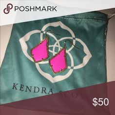 Kendra Scott earrings in magenta These have been worn once and are in perfect condition! Kendra Scott Jewelry Earrings