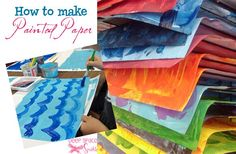 How to Make Painted Paper | Deep Space Sparkle