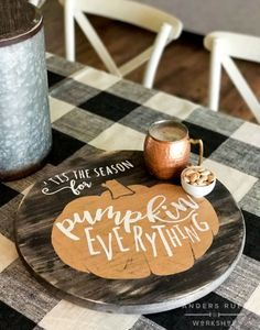 Tis the Season for Pumpkin Everything Lazy Susan Fall Crafts, Decor Crafts, Holiday Crafts, Wood Crafts, Diy Wood, Kids Crafts, Holiday Decor, Fall Projects, Wood Projects