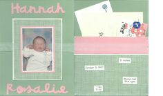 Scrapbook - 2 page layout for baby with pocket for cards, letters, journaling, etc