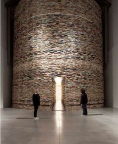 The Great Installation. Made with books!