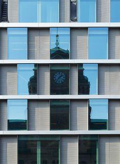 Vasagatan 7 – Reflex Architects Hotel Architecture, Residential Architecture, Contemporary Architecture, Architecture Details, Building Facade, Building Design, Facade Design, Exterior Design, Architectural Pattern