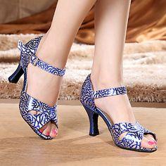 Zapatos de baile(Azul) -Latino-Personalizables-Tacón Stiletto 4957515 2016 –…