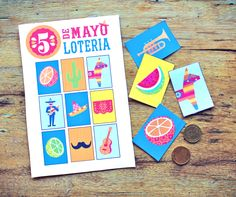 Printable Mexican lotería (bingo)- part of the Happythought Cinco de Mayo kit! happythought.co.uk