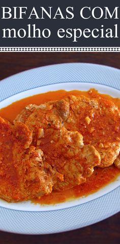 Bifanas com molho especial   Food From Portugal. As bifanas são muito apreciadas na cozinha portuguesa! Prepare esta receita de bifanas com molho especial e terá uma receita diferente e saborosa para o seu almoço. #receita #bifanas #molho