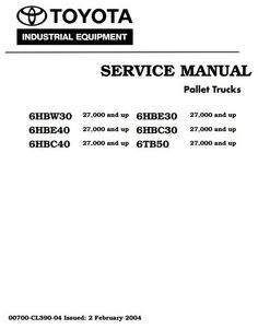79 Best Toyota Industrial Manuals S On Pinterest. Toyota Truck 6hbc30 6hbc40 6hbe30 6hbe40 6hbw30 6tb50 Sn 27000 And Up Service Manual. Toyota. Toyota Forklift 6hbe30 Wiring Diagram At Scoala.co
