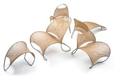 Family of Loop de Loop Chairs including Lounge, Dining, Chaise Longue and Side Chair, design William Pedersen Deco Furniture, Furniture Design, Smart Furniture, Outdoor Furniture, Tubular Steel, Chaise Sofa, Best Sofa, Chair And Ottoman, Line Design