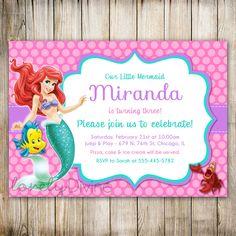 Little Mermaid compleanno invito invito di Ariel Ariel
