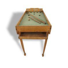 Vieux jeu de billard en bois pour enfant - Bois -  - Dans son jus - Vintage - 12757