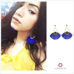 "Happy happy customer @massgp con sus aretes ""Royal Blue""  #happy #happycustomer #earrings #royalblue #beauty #byou #becomplete"