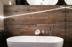wood bathroom bath tub