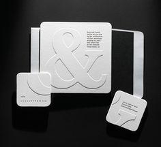 Invitation Inspiration: Ampersands :  wedding chicago invitations stationery 91 9