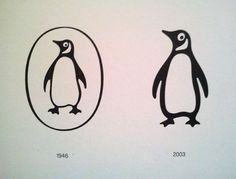 1946 modification, and subsequent 2003 fine-tuning by Pentagram's Angus Hyland Penguin Logo, Penguin Books, Logo Design Love, Graphic Design, Book Logo, Penguin Classics, Animal Logo, Pictogram, Art Logo