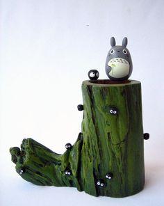 My Neighbor Totoro TEAK WOOD Vase