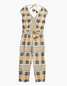 b5a722b03e4 Madewell The Odells Jacquard Studio Jumpsuit Pant Shirt