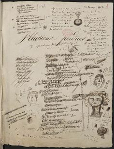 Honoré de Balzac - Manuscrit des Illusions perdues