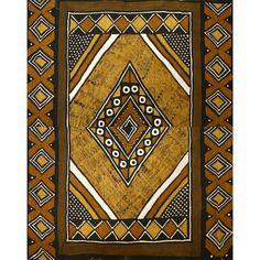 Très grand bogolan africain aux motifs originaux