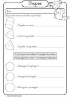 free worksheets maths geometry shapes