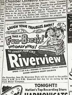 Riverview amusement park Chicago photos | Recent Photos The Commons Getty Collection Galleries World Map App ...