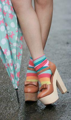 Ankle Socks, Sock Shoes, Heeled Mules, Stiletto Heels, My Style, Dress, Fashion, Moda, Socks