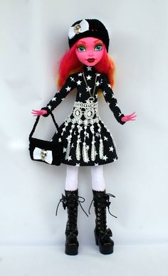 Wechselkleidung pass. für Monster High - Outfit - Gooliope Jellington SET in…