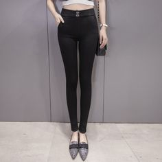 2017 New women skinny jeans denim pants Waist diamonds jeans stretch long jeans Pencil pants Wholesale #Affiliate