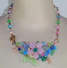 Mary Lowe necklace, Anastasia Statement (English Garden)