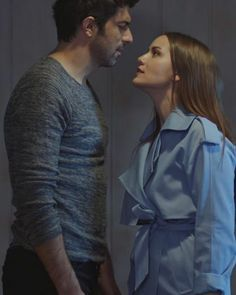 Engin Akyürek and Fahriye Evcen in the Turkish TV series OLENE KADAR, 2017.