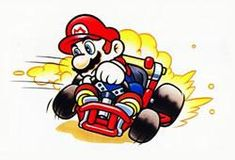 A collection of official artwork images from Super Mario Kart on the SNES including the main characters like Mario, Luigi, Bowser, Toad, Yoshi and Princess Toadstool and their karts. Mario Kart 8, Super Mario Kart, Super Mario Brothers, Mario And Luigi, Super Nintendo, Snes Classic Edition, Mario Tattoo, Manga Anime, Super Mario World