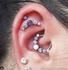 Last week, I saw a few articles pop up on my Facebook newsfeed about the daith piercing. What is a daith piercing, you might ask? It's a piercing on your crus helix, which is the part of your ear above the tragus. It's basically a small piercing tucked into your ear that could easily be missed, but ends up looking so cute and kind of mysterious.