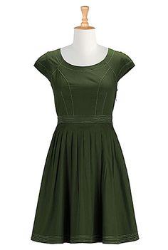 I <3 this Cutout back poplin dress from eShakti