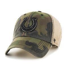 9de39257068 Indianapolis Colts 47 Brand Green Howitzer Camo Burnett Mesh Adjustabl –  Sporting Up