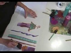 Fabric Surface Design - Painting on Fusible Web http://www.MarcyTilton.com