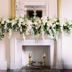 If only every fireplace mantle could look this lush and green! Imagine saying…