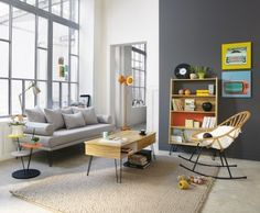 Mix of modern and vintage style living room | Maisons du Monde