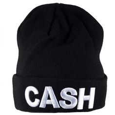 Johnny Cash - Block Logo Adult Knit Beanie