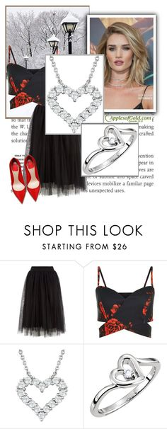 """""""FULL OF LOVE DIAMOND JEWELRY FROM ApplesofGold.com 3"""" by marina-555 ❤ liked on Polyvore featuring Whiteley"""