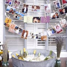 21st birthday photo decoration -- could do this for any age #birthday #party