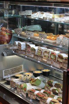 How to Make Pressed Italian Picnic Sandwiches Deli Shop, Deli Cafe, Bakery Cafe, Sandwich Bar, Sandwich Shops, Cafe Display, Bakery Display, Bakery Decor, Bakery Interior
