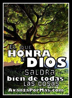 """(POSTAL con Frase) """"El que HONRA A DIOS saldrá bien de todas las cosas..."""" -> Imágenes Cristianas"""