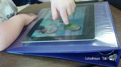 Protect Your iPad Screen from Messy Hands! What a brilliant idea - it even provides a slant board for ease of use.