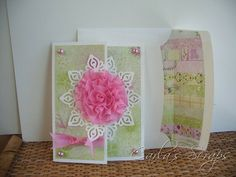 Gathered Ribbon Flower, A Walk in the Garden Paper Pack, Carla's Scraps (1)