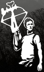 The Walking Dead Daryl Dixon Window Decal